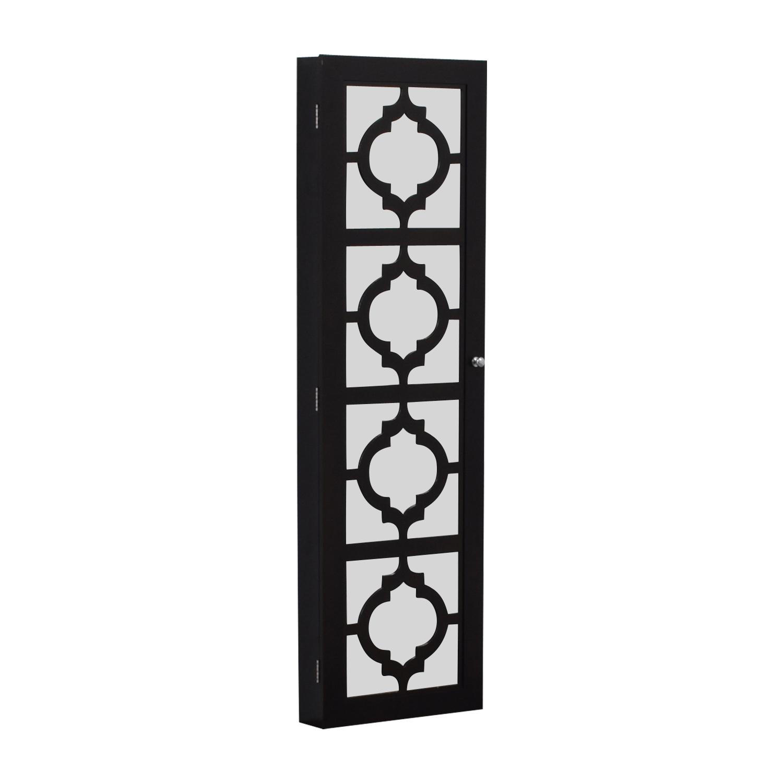 Black Mirrored Jewelry Rack