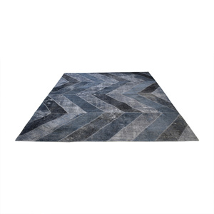 Aga John Overdyed Blue Chevron Rug price