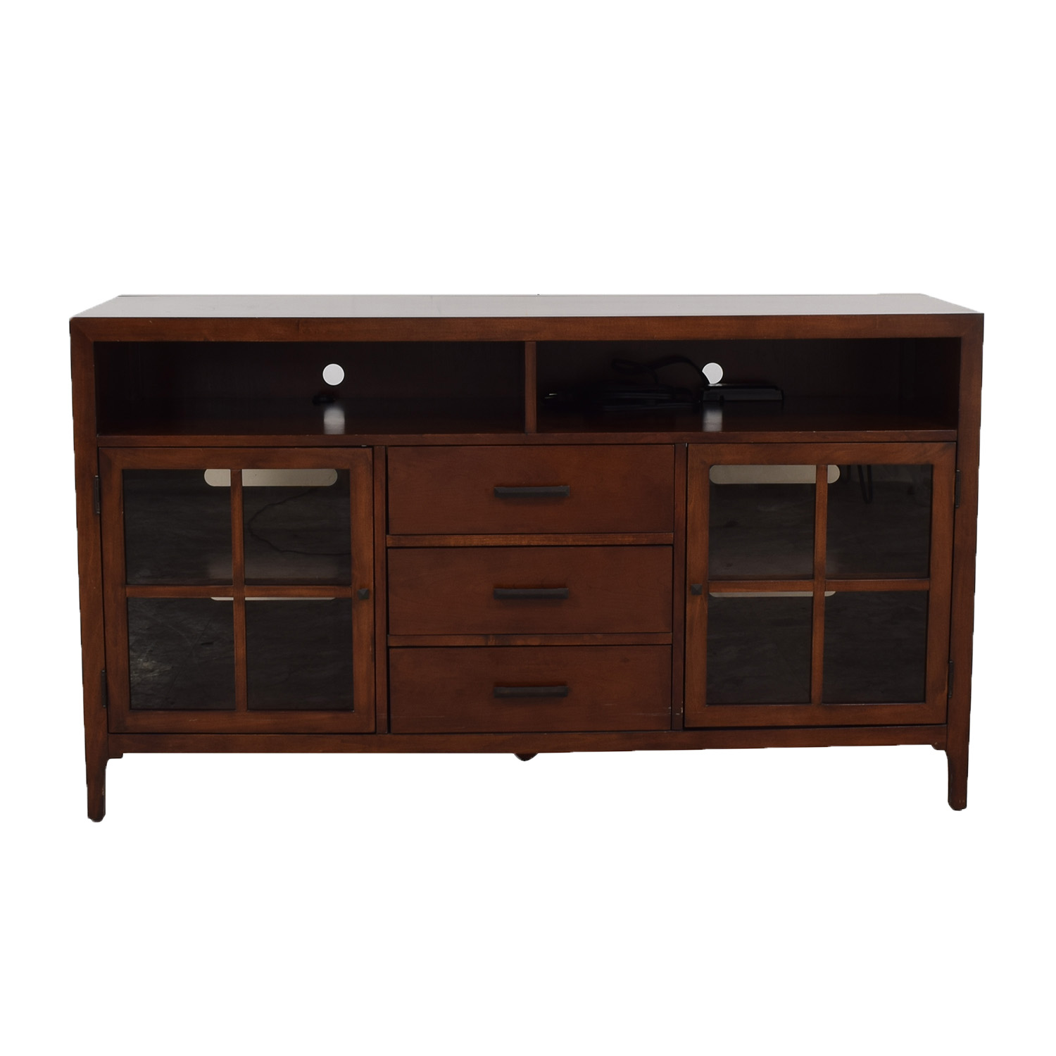 buy Bernhardt Maxwell Three-Drawer Entertainment Console Bernhardt