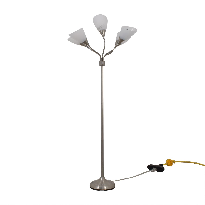 Chrome Multi Light Floor Lamp