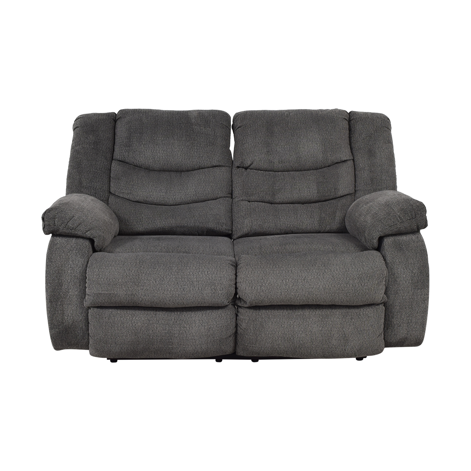 Ashley Furniture Ashley Furniture Gray Reclining Loveseat Loveseats