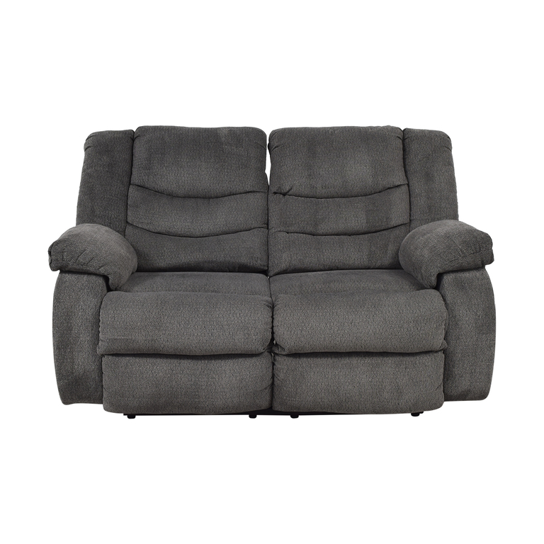 shop Ashley Furniture Gray Reclining Loveseat Ashley Furniture