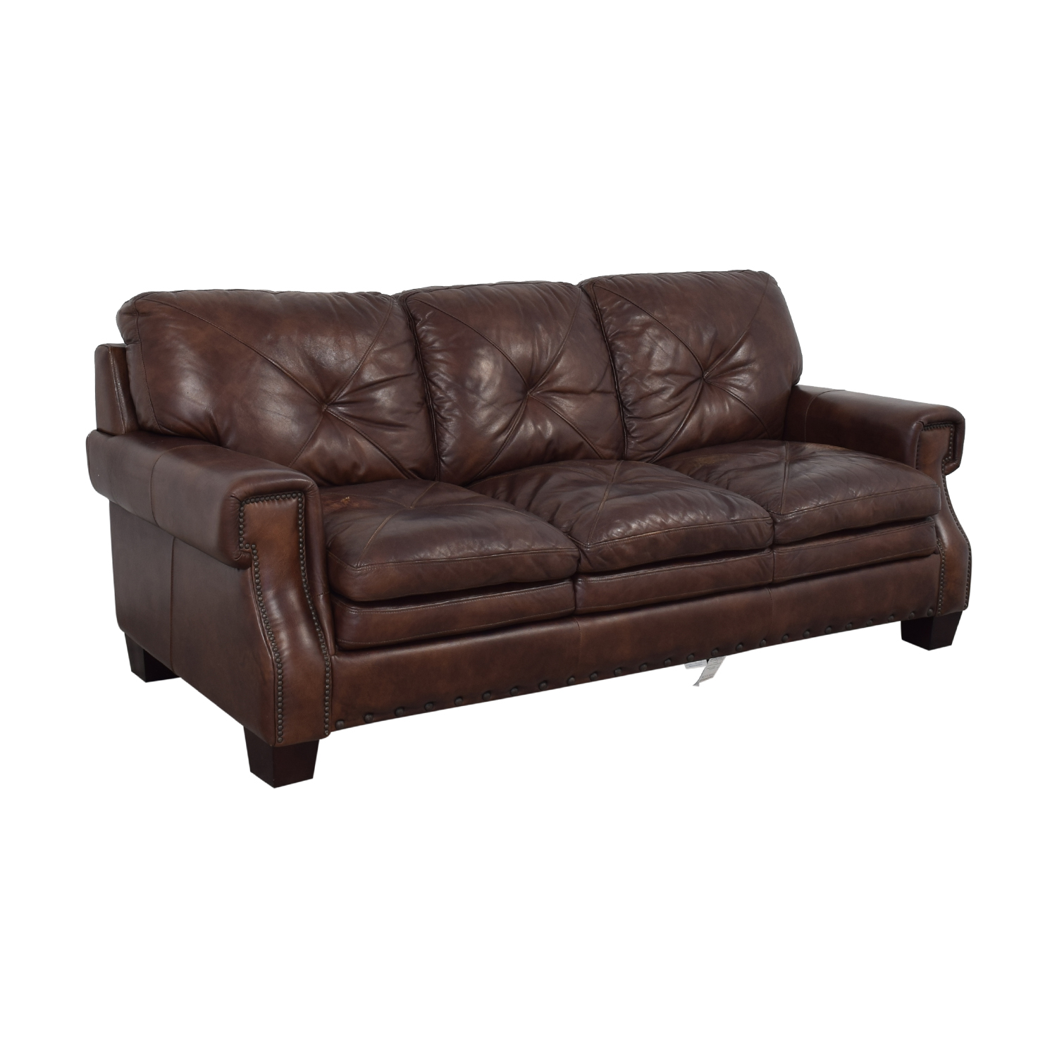 Bob's Discount Furniture Bob's Discount Furniture Kennedy Leather Sofa on sale
