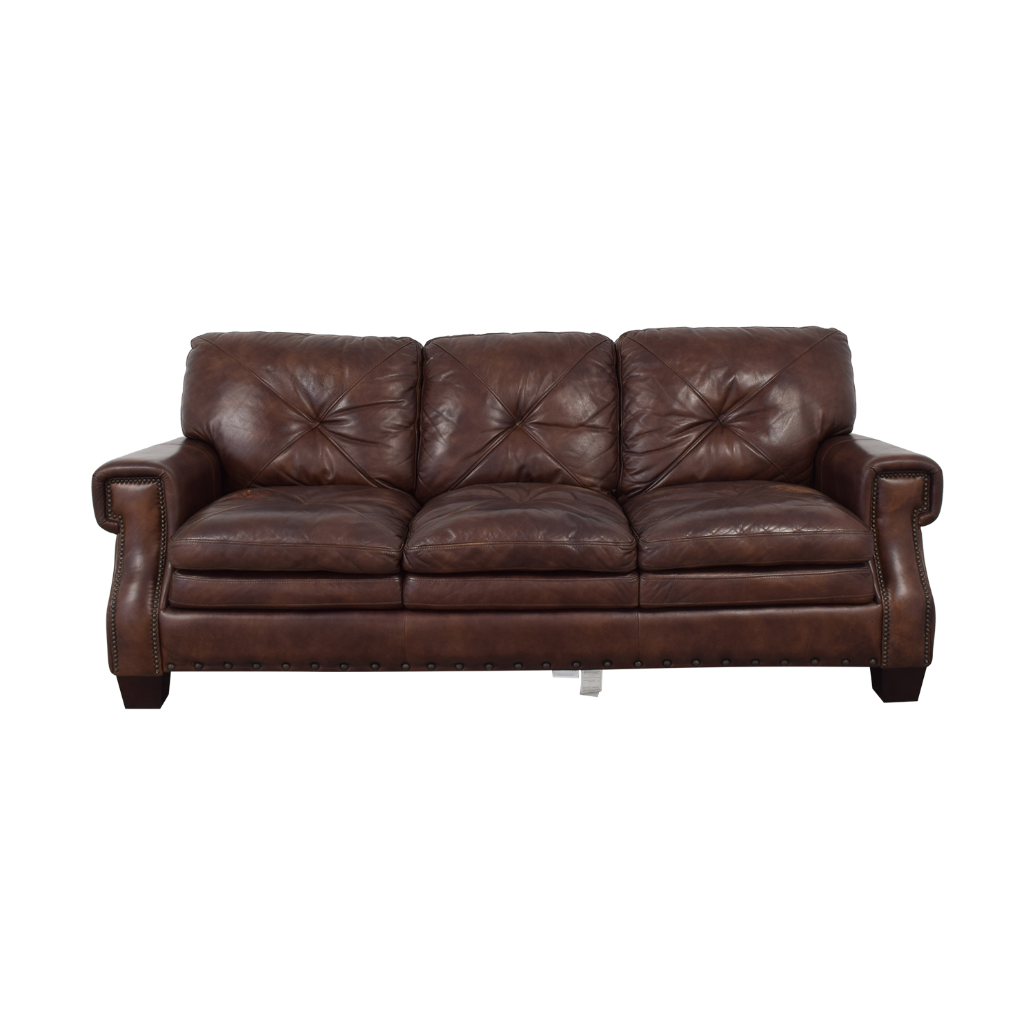 buy Bob's Discount Furniture Kennedy Leather Sofa Bob's Discount Furniture Classic Sofas