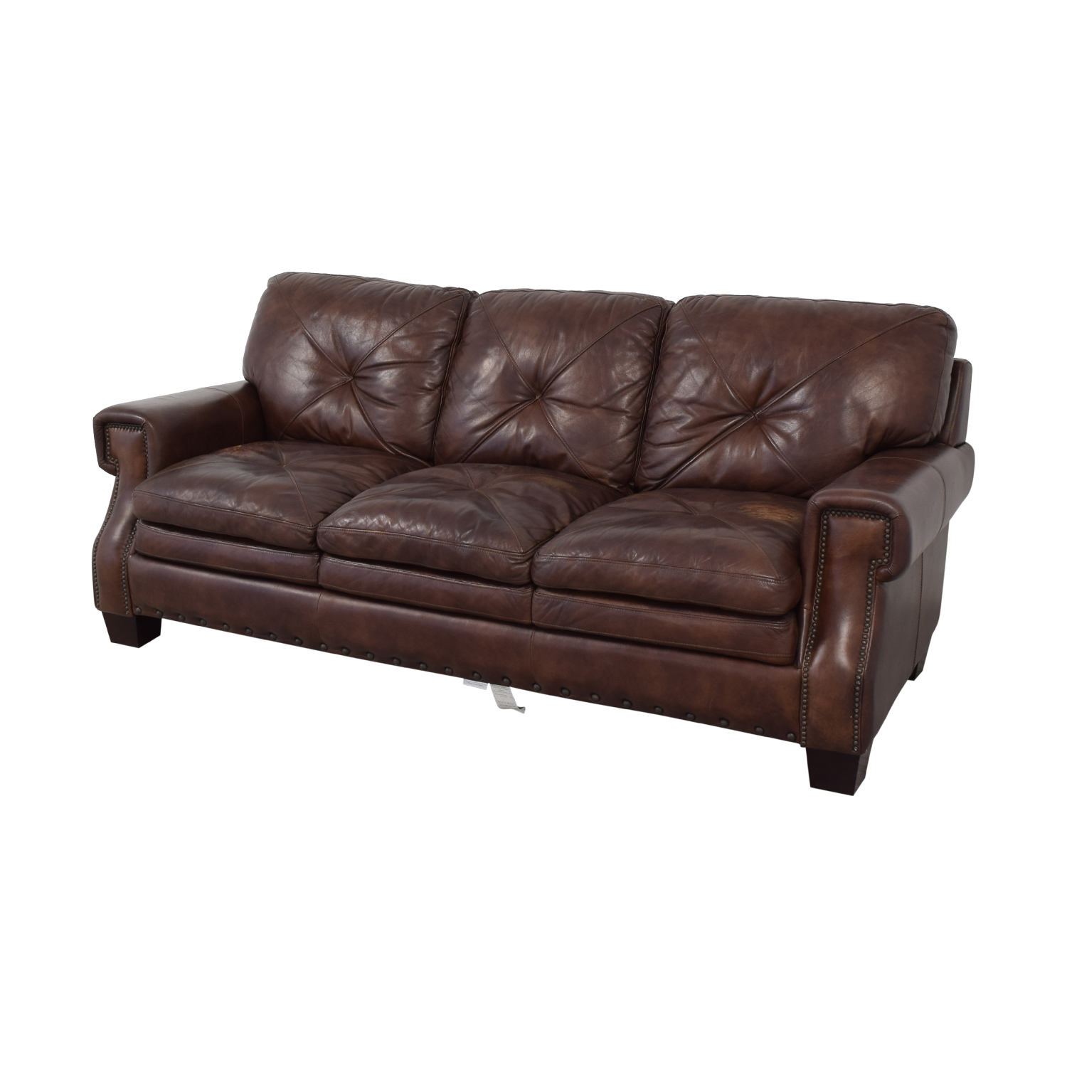 Bob's Discount Furniture Kennedy Leather Sofa sale