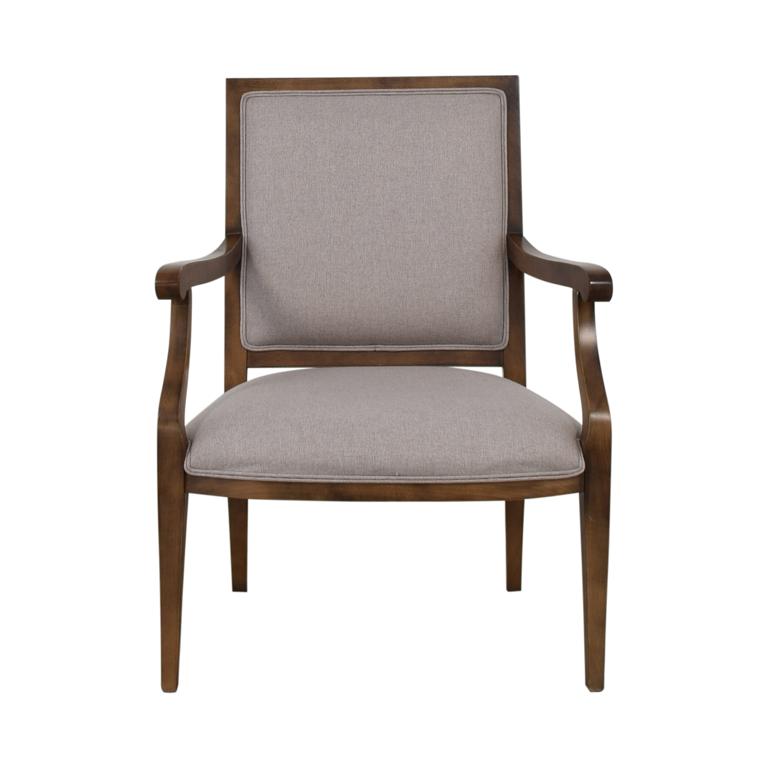 Grey Upholstered Arm Accent Chair
