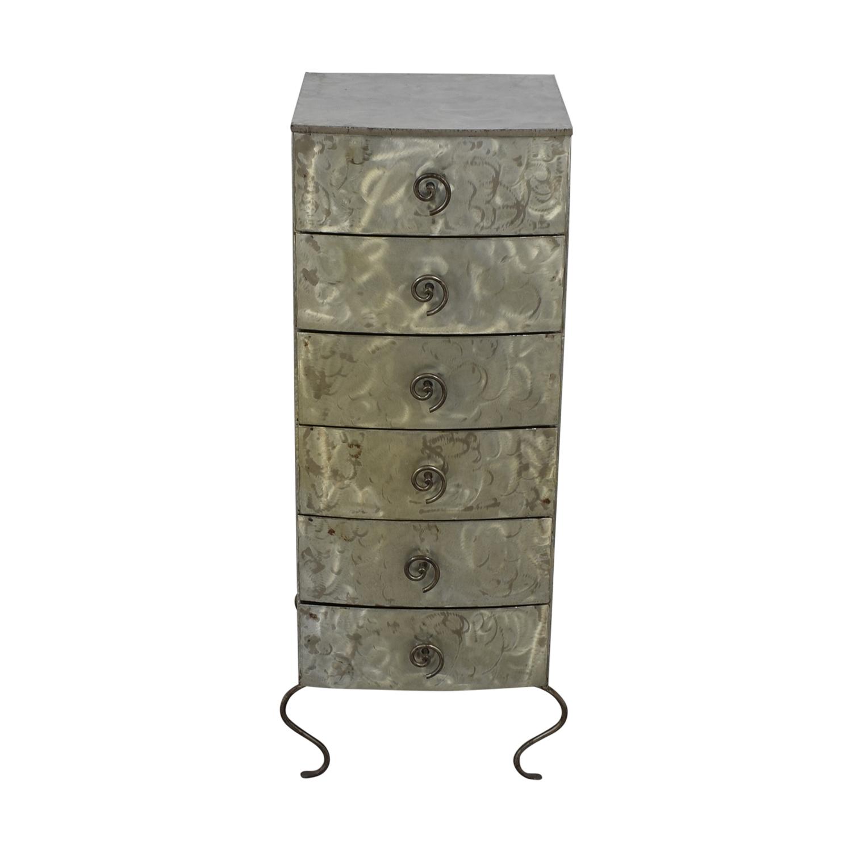 buy Metal Six-Drawer Tall Dresser