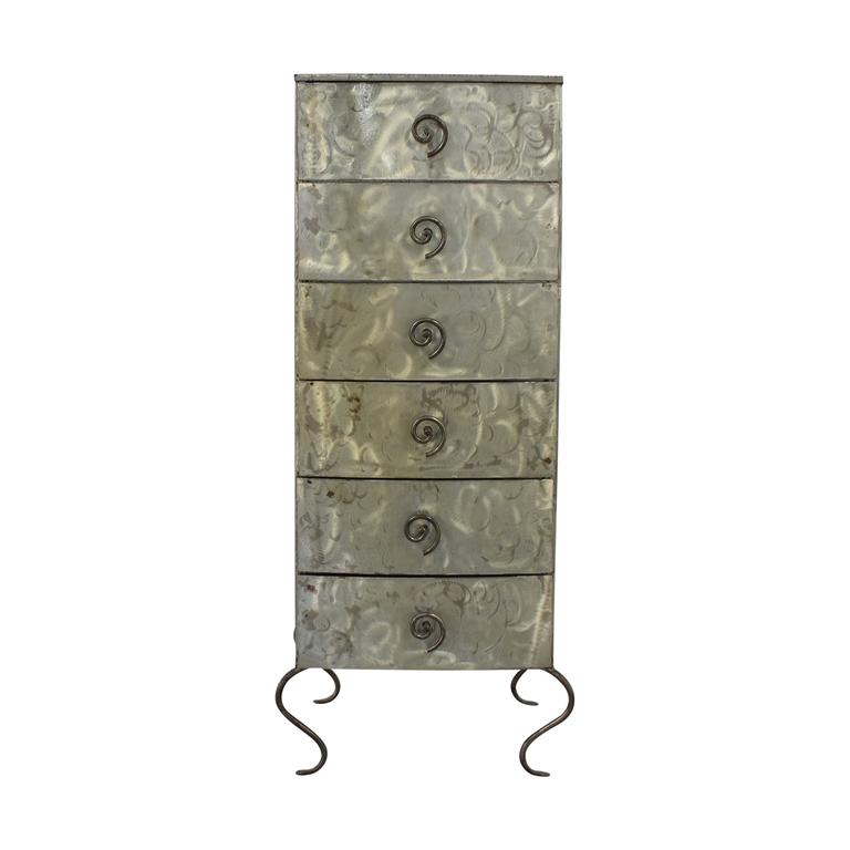 Metal Six-Drawer Tall Dresser coupon