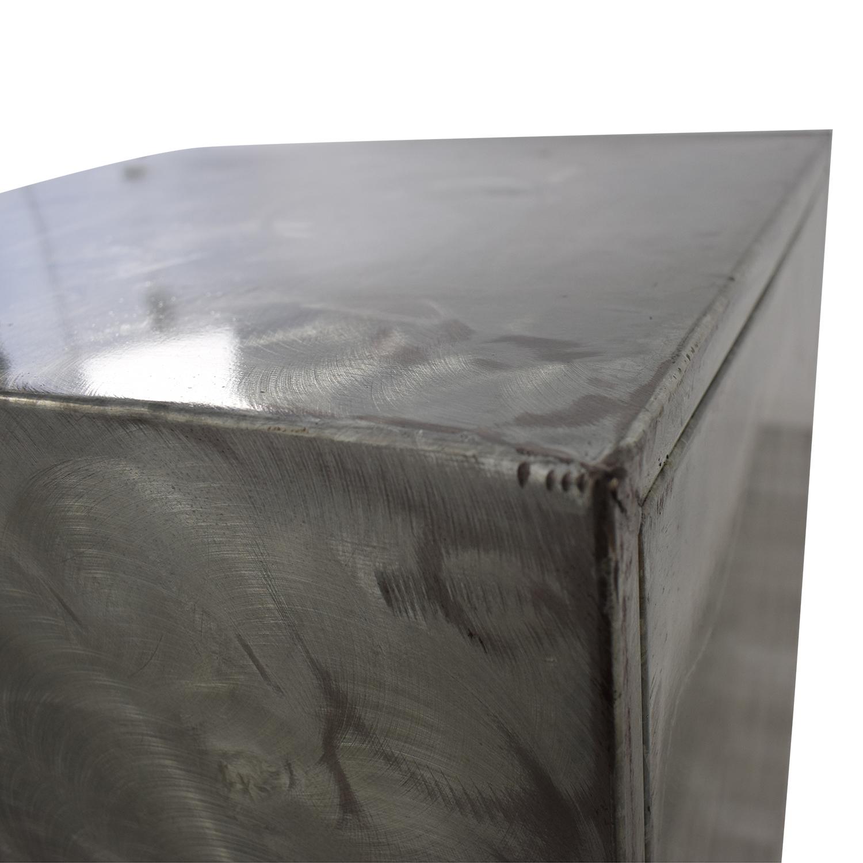 shop Metal Six-Drawer Tall Dresser  Dressers