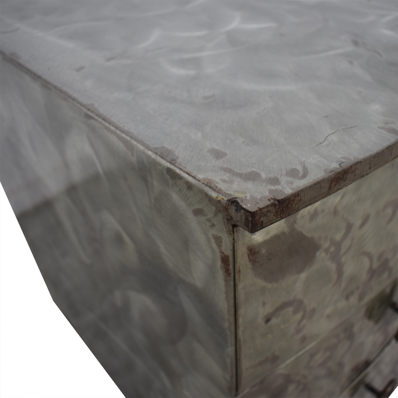 buy Metal Silver Six-Drawer Dresser