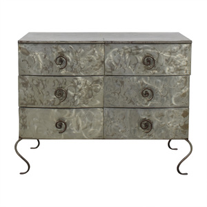 Metal Silver Six-Drawer Dresser price
