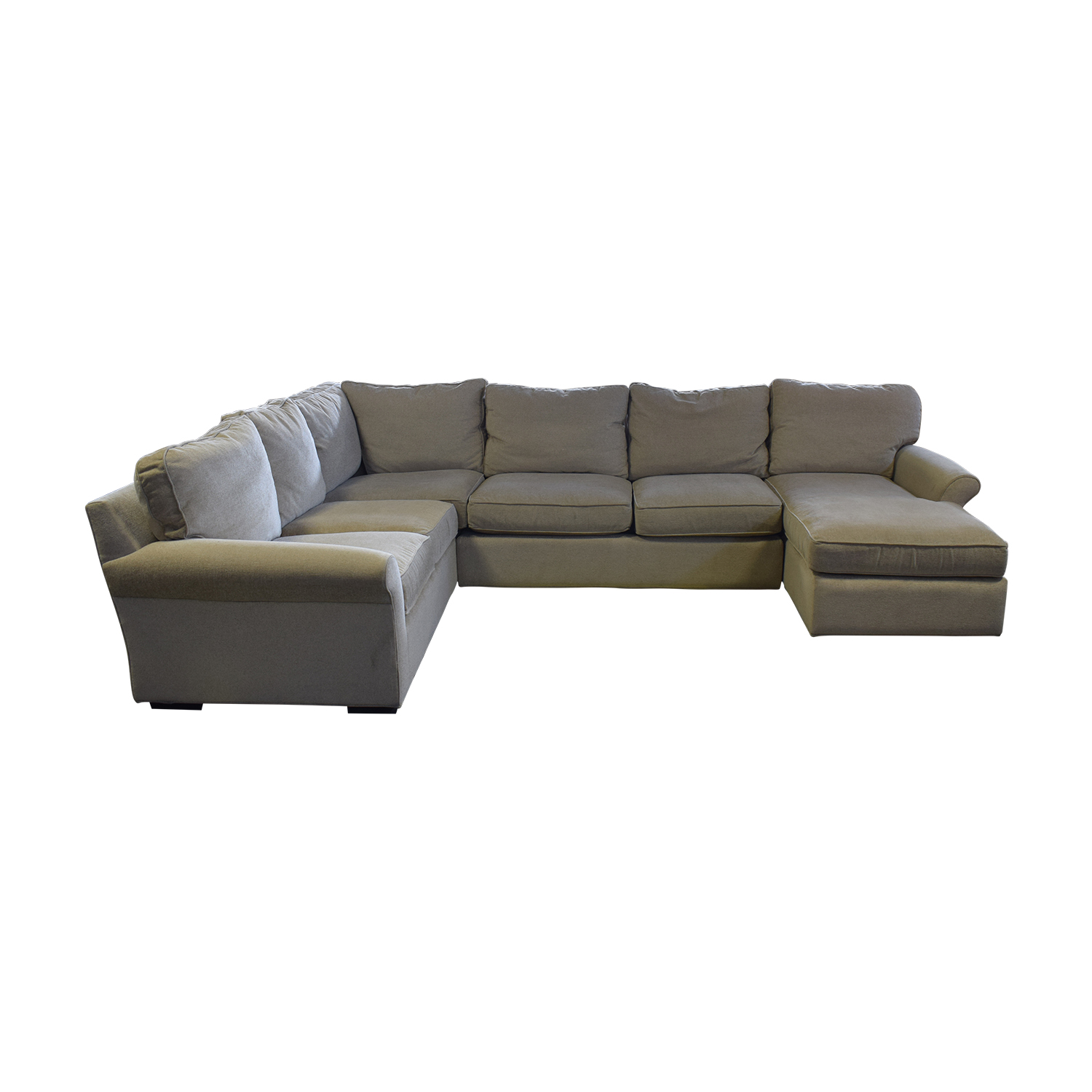 Macy's Macy's Beige L-Shaped Chaise Sectional Sectionals