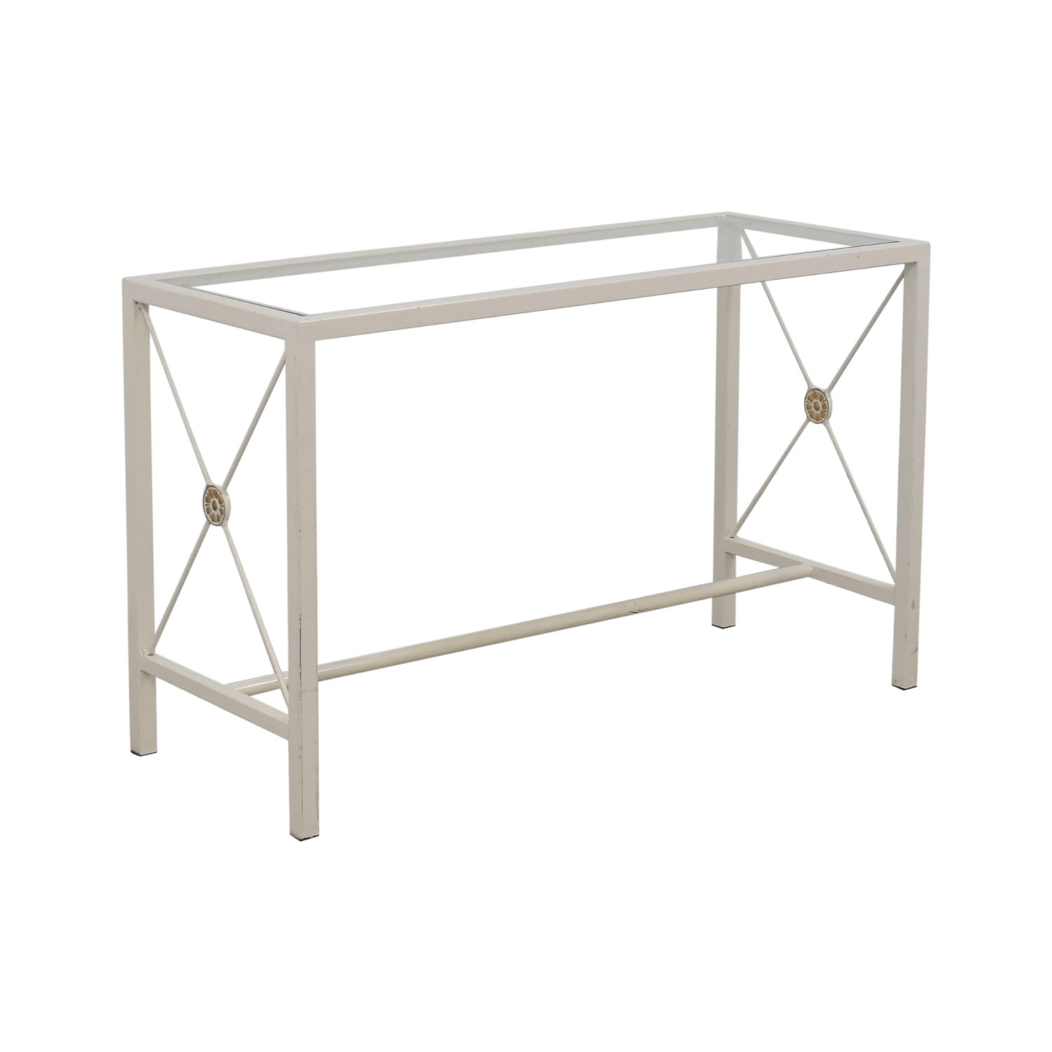 buy Overstock White Entry Table Overstock