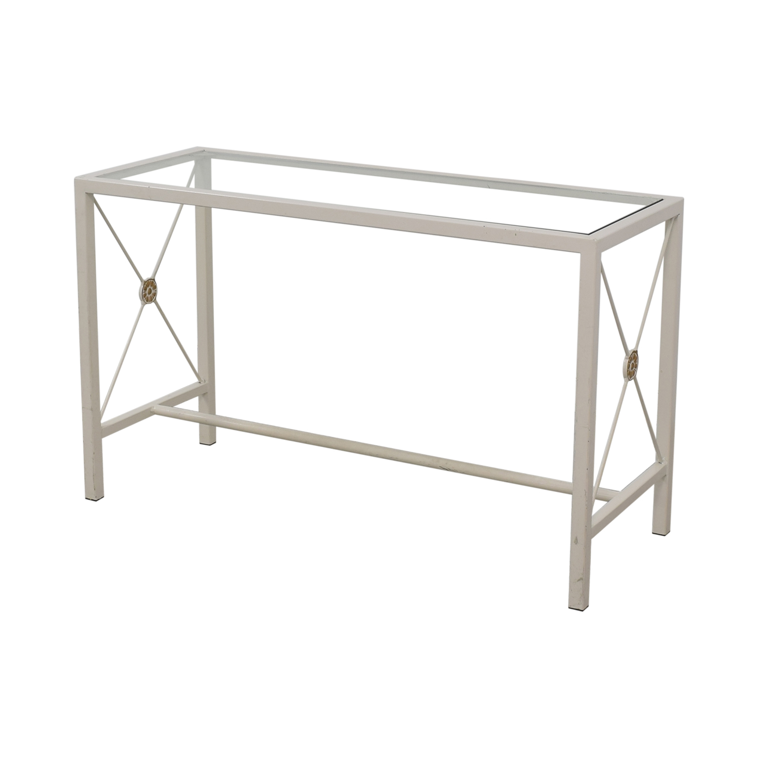 shop Overstock White Entry Table Overstock