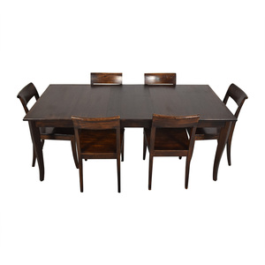 Crate & Barrel Crate & Barrel Cabria Table Dining Set dimensions