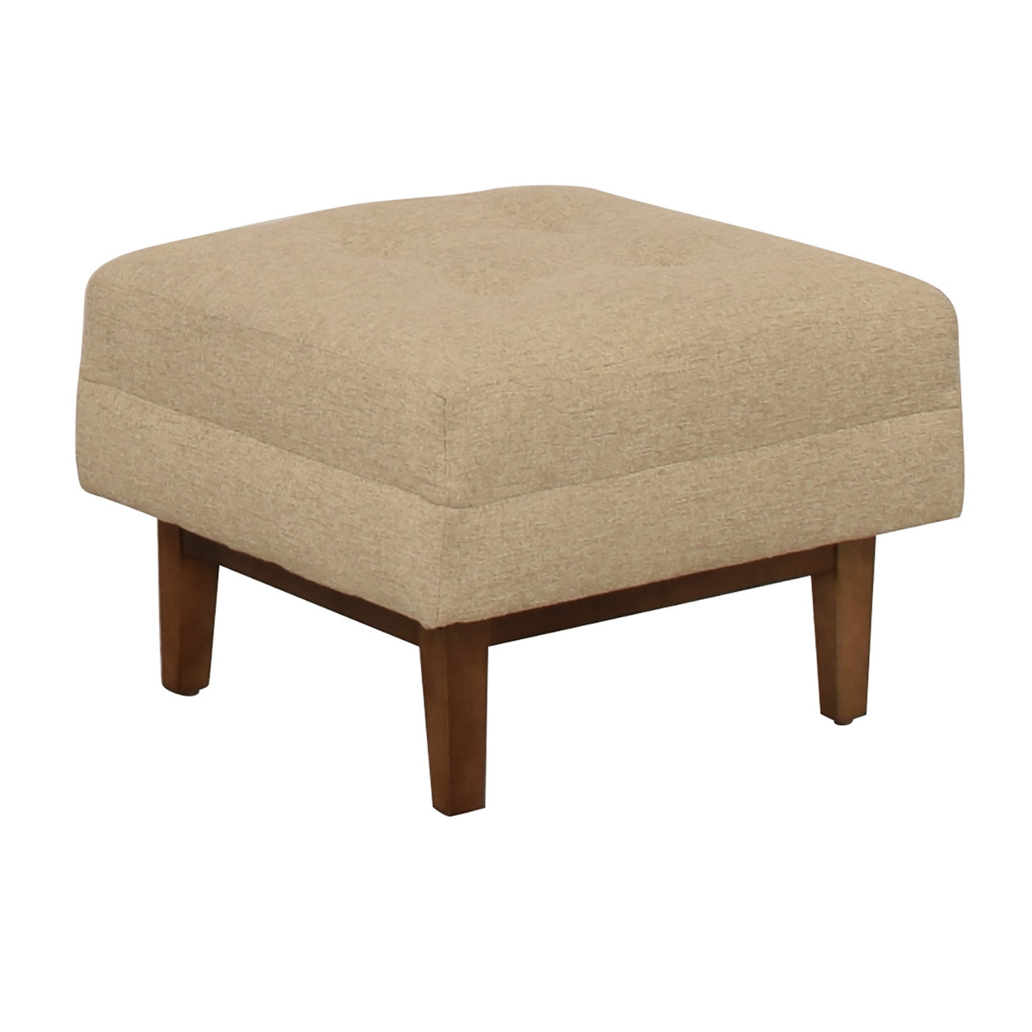 Rowe Furniture Ethan Beige Tufted Ottoman Chairs
