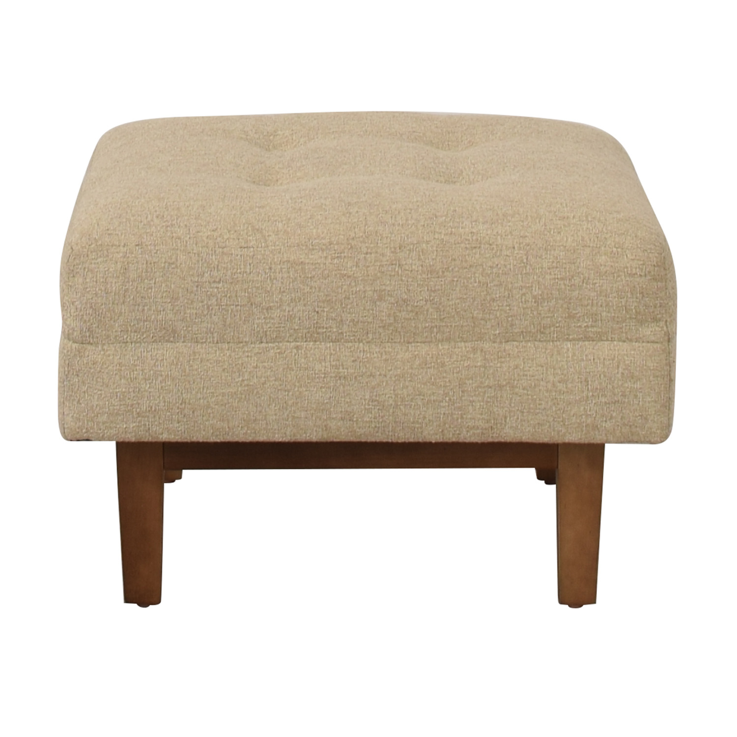 Rowe Furniture Ethan Beige Tufted Ottoman