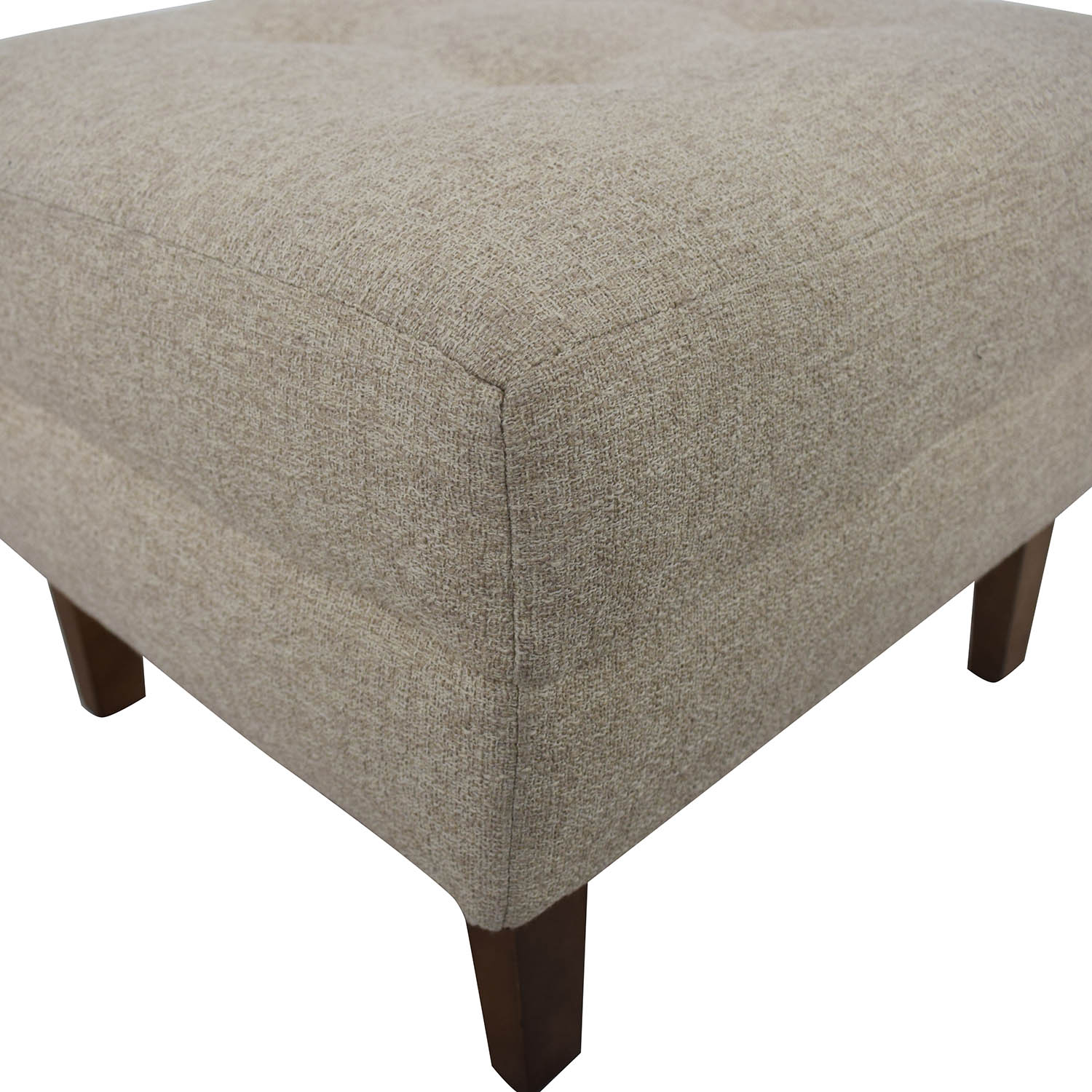 Rowe Furniture Ethan Beige Tufted Ottoman discount