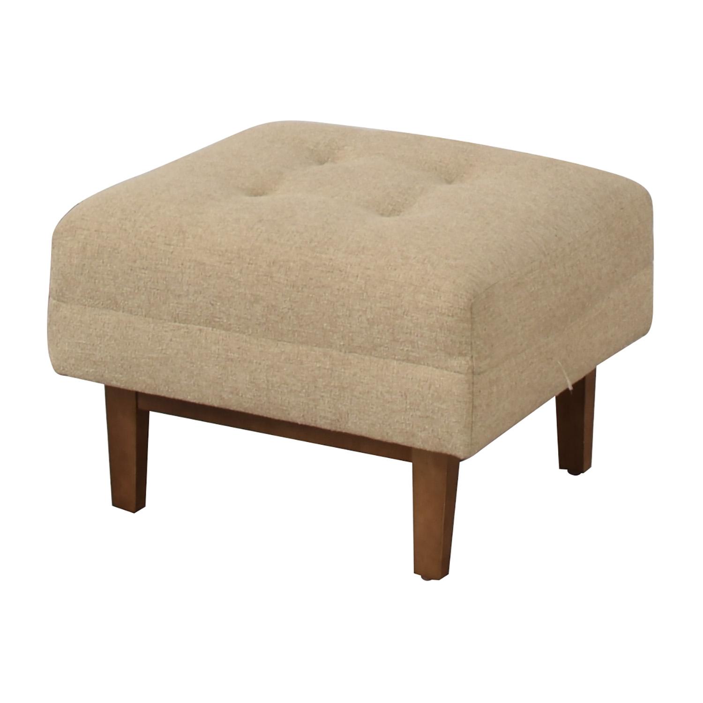 shop Rowe Furniture Ethan Beige Tufted Ottoman  Ottomans