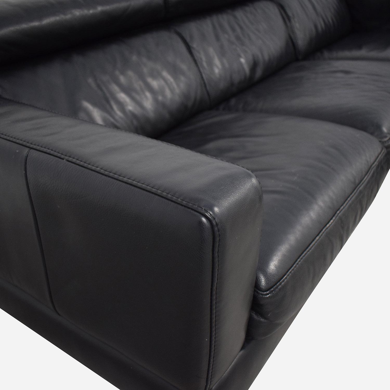 buy  Modern Black Chaise Sofa online