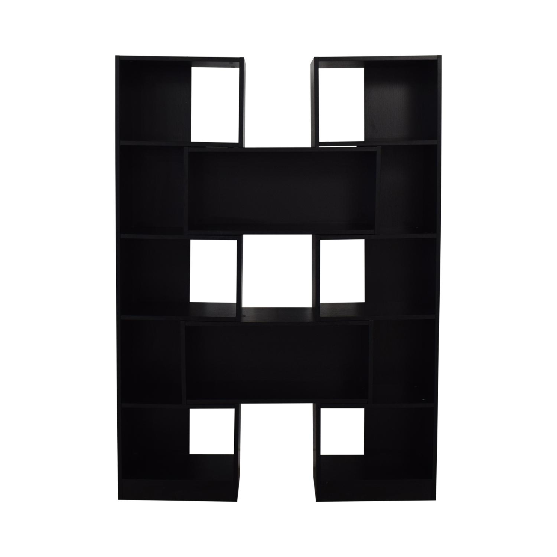 CB2 CB2 Black Expandable Bookcase nj