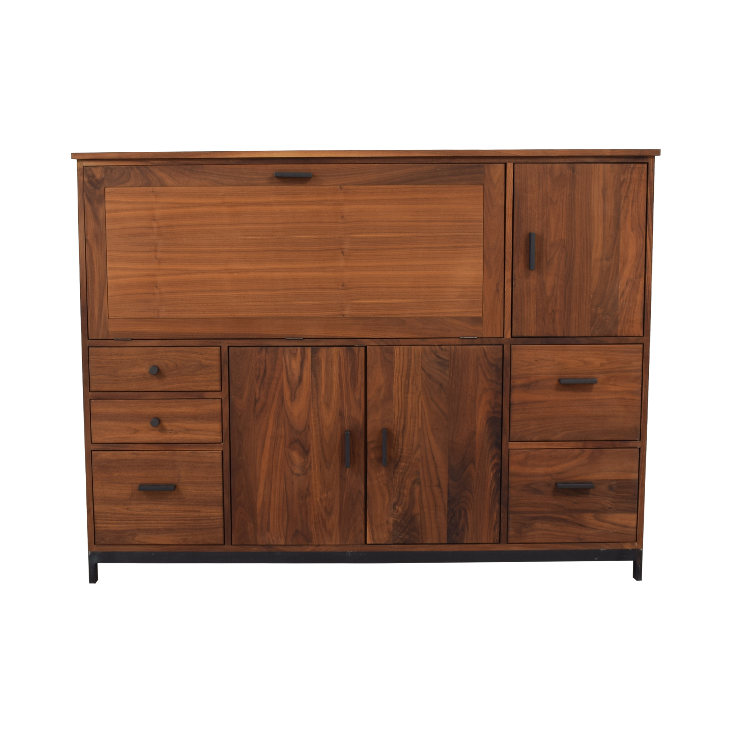 shop Room & Board Walnut Linear Office Armoire Room & Board Storage