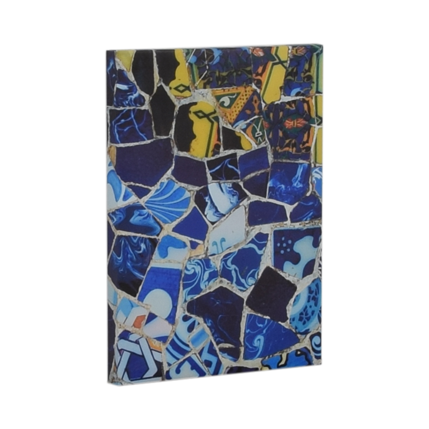 shop Canvas Print of Yellow and Blue Crushed Tiles