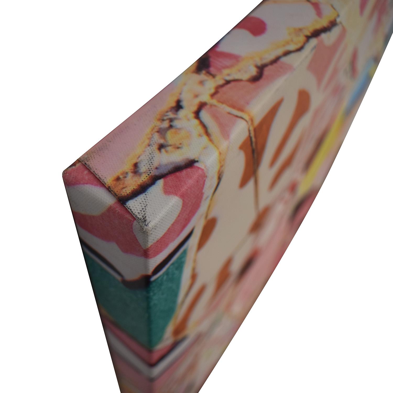 shop Multi-Colored Crushed Tile Print  Decor