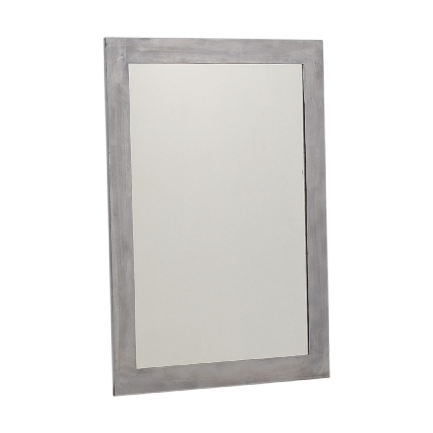 Silver Framed Wall Mirror Silver
