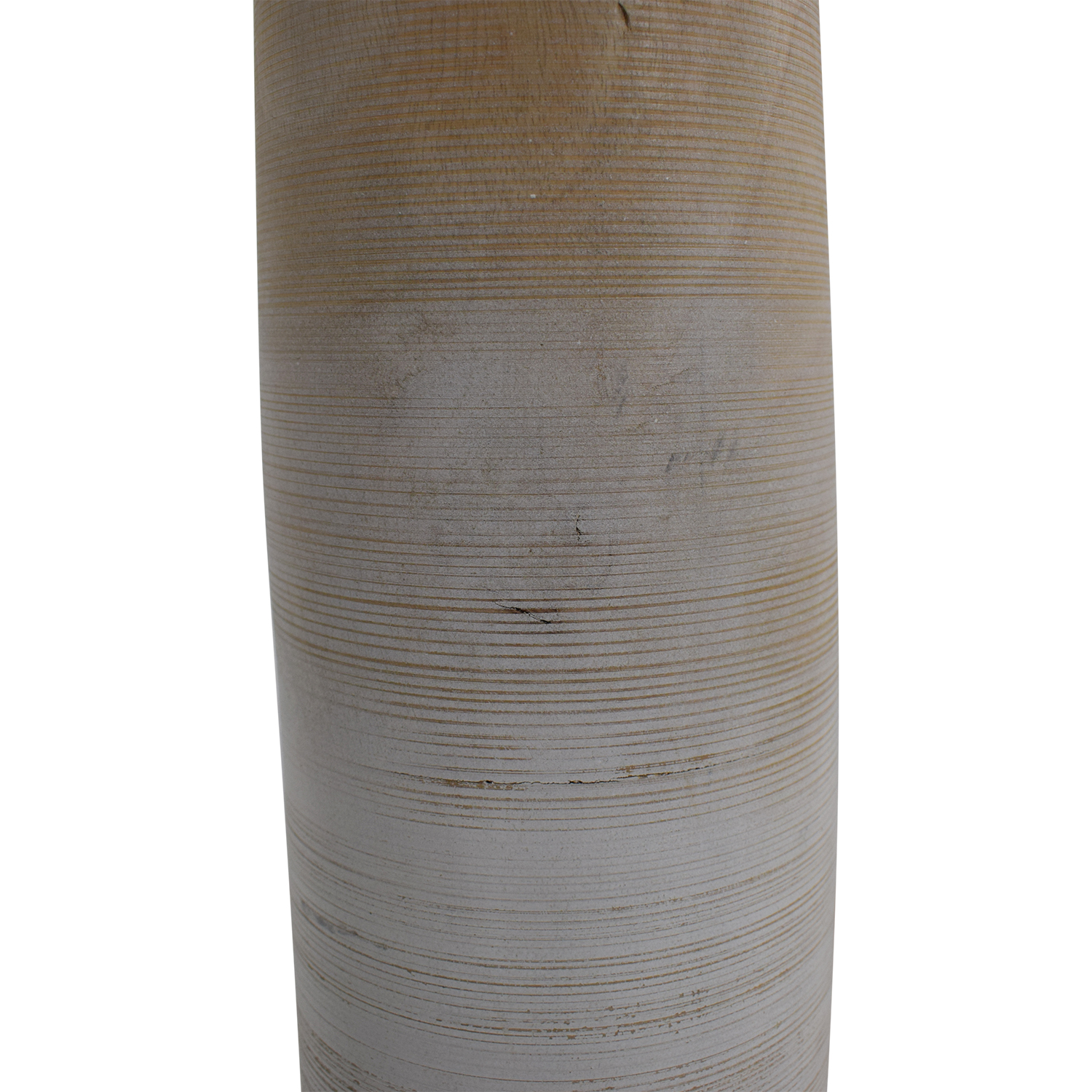 White and Natural Tall Vase used