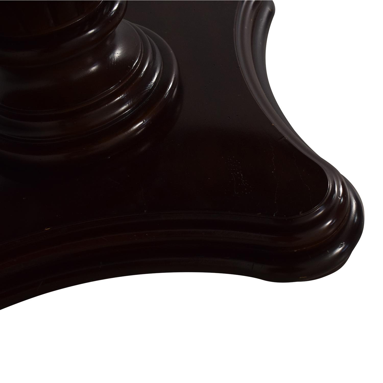Bernhardt Bernhardt Extendable Pedestal Dining Table Brown