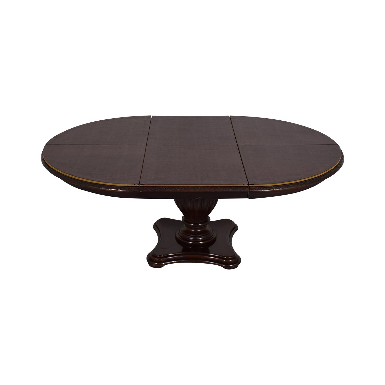 shop Bernhardt Extendable Pedestal Dining Table Bernhardt Tables