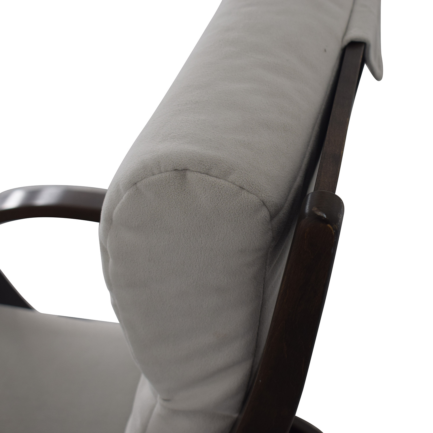 87 Off Dutailier Dutailier Wood Frame And Grey Upholstered Armchair And Ottoman Chairs
