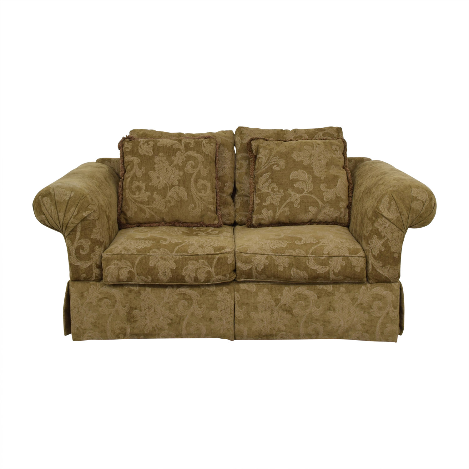 shop Alan White Brown and Tan Two-Cushion Couch Alan White Sofas