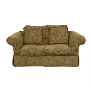 Alan White Alan White Brown and Tan Two-Cushion Couch dimensions