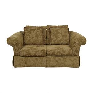 shop Alan White Brown and Tan Two-Cushion Couch Alan White Sofas