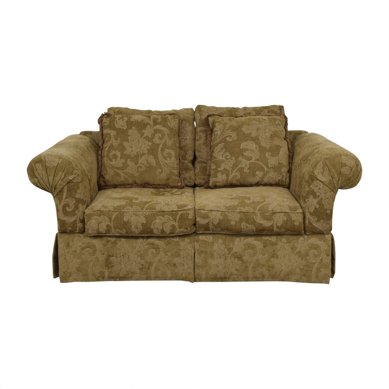 shop Alan White Brown and Tan Two-Cushion Couch Alan White