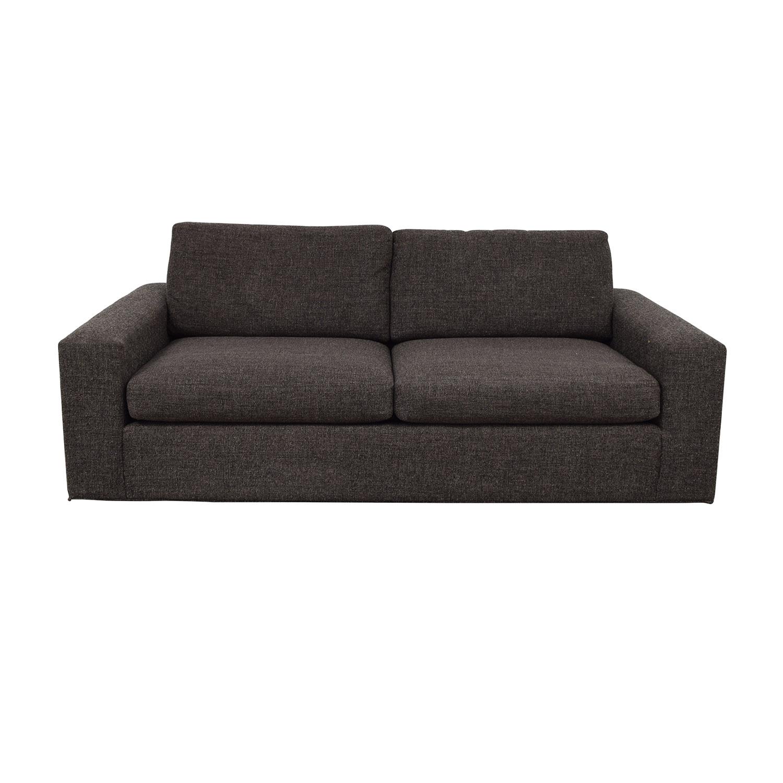 Room & Board Metro Grey Tweed Two-Cushion Sofa / Classic Sofas