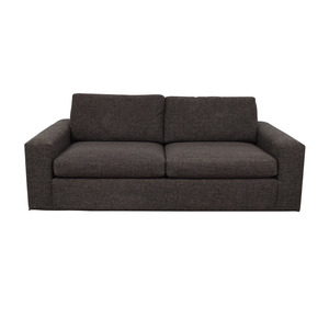 Room & Board Room & Board Metro Grey Tweed Two-Cushion Sofa nj