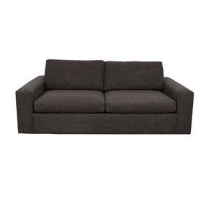 Room & Board Room & Board Metro Grey Tweed Two-Cushion Sofa nj