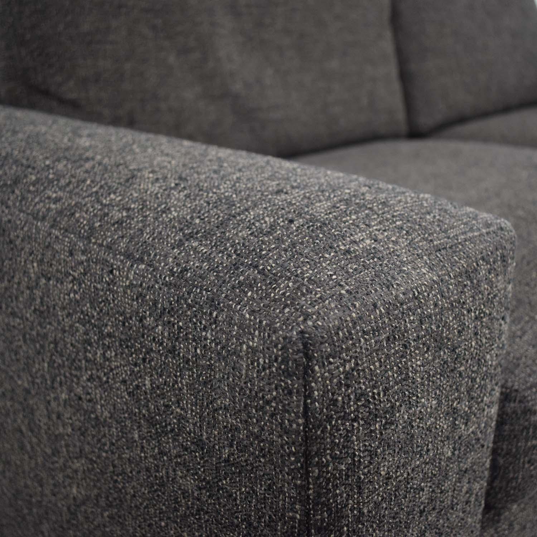 Room & Board Room & Board Metro Grey Tweed Two-Cushion Sofa black