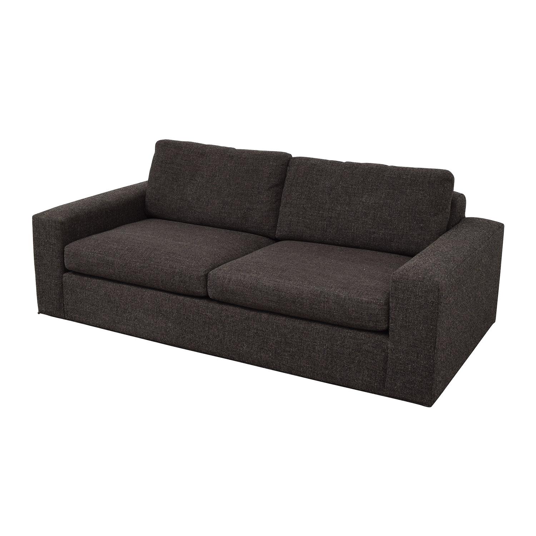 Room & Board Metro Grey Tweed Two-Cushion Sofa Room & Board