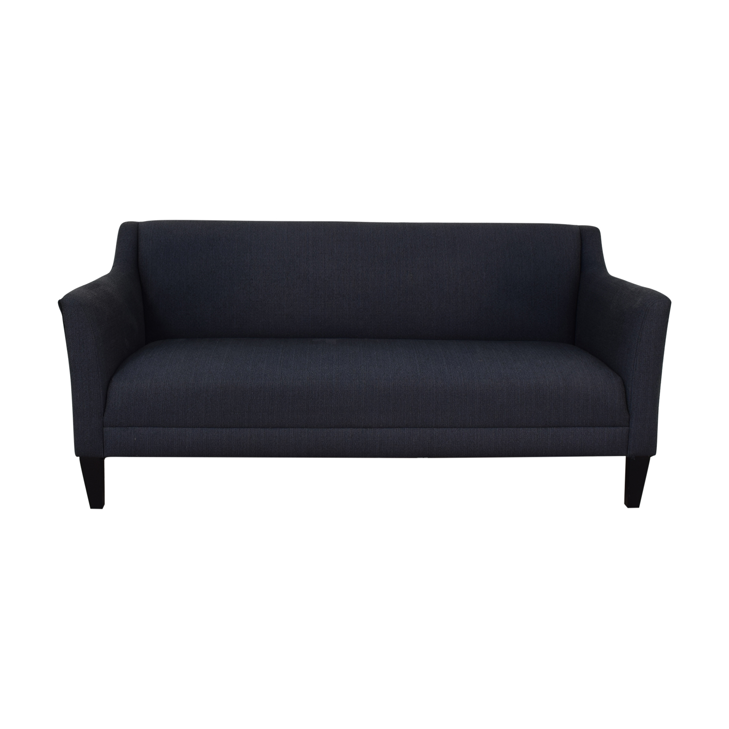 Crate & Barrel Blue Apartment Sofa Dark Blue