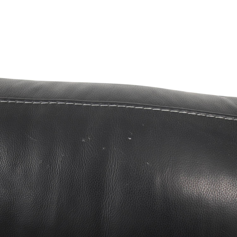 Macy's Macy's Judson Leather Dual Power Reclining Loveseat nj