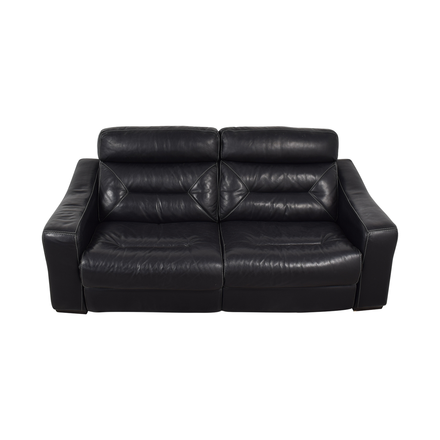 buy Macy's Judson Leather Dual Power Reclining Loveseat Macy's Classic Sofas