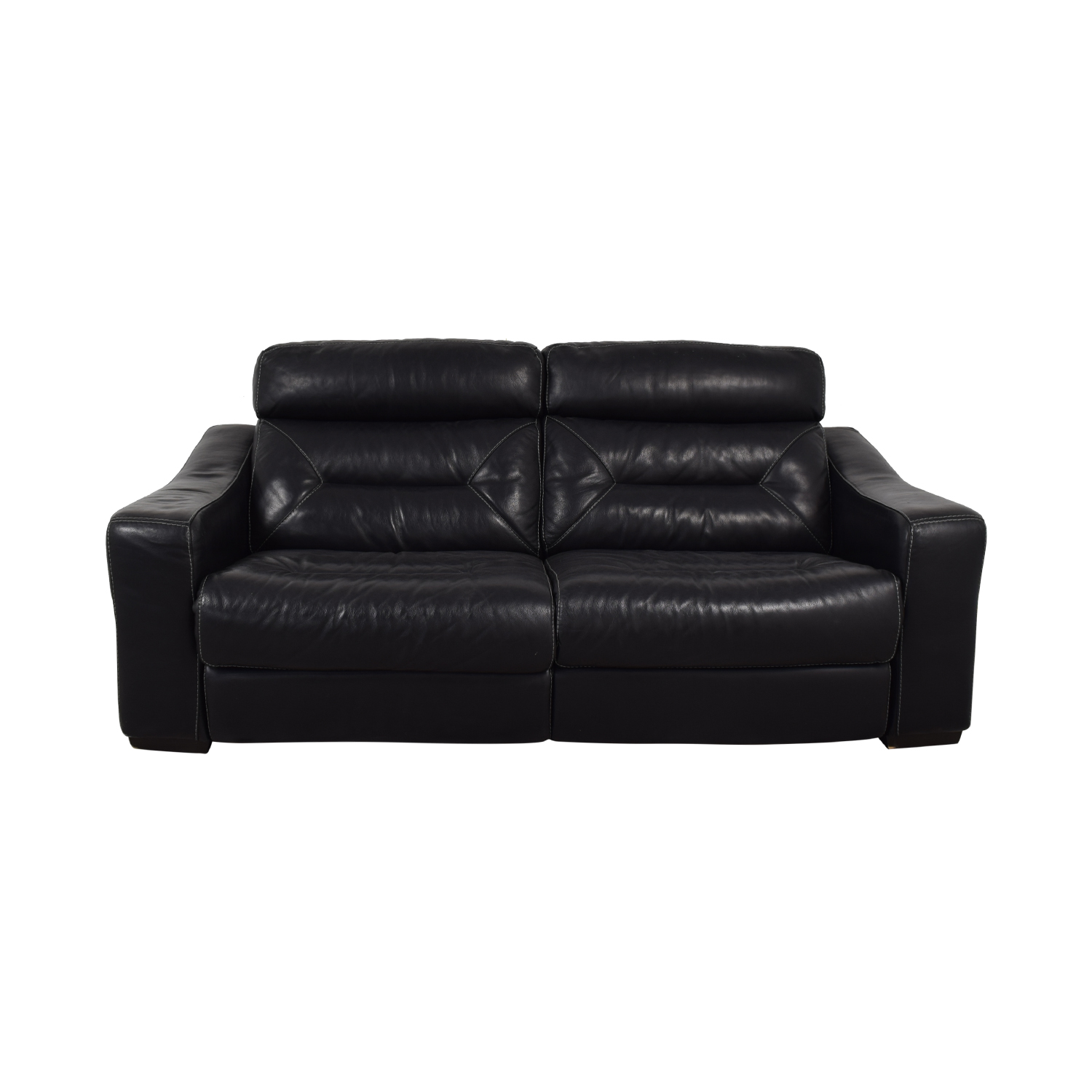 Macy's Macy's Judson Leather Dual Power Reclining Loveseat nj