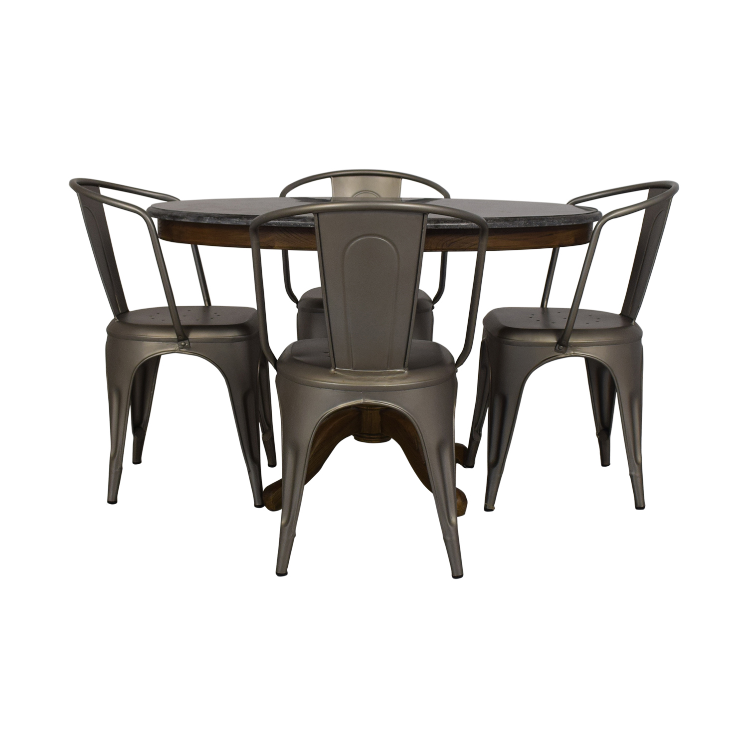 Restoration Hardware Restoration Hardware Bluestone Dining Table And Remy Chairs used