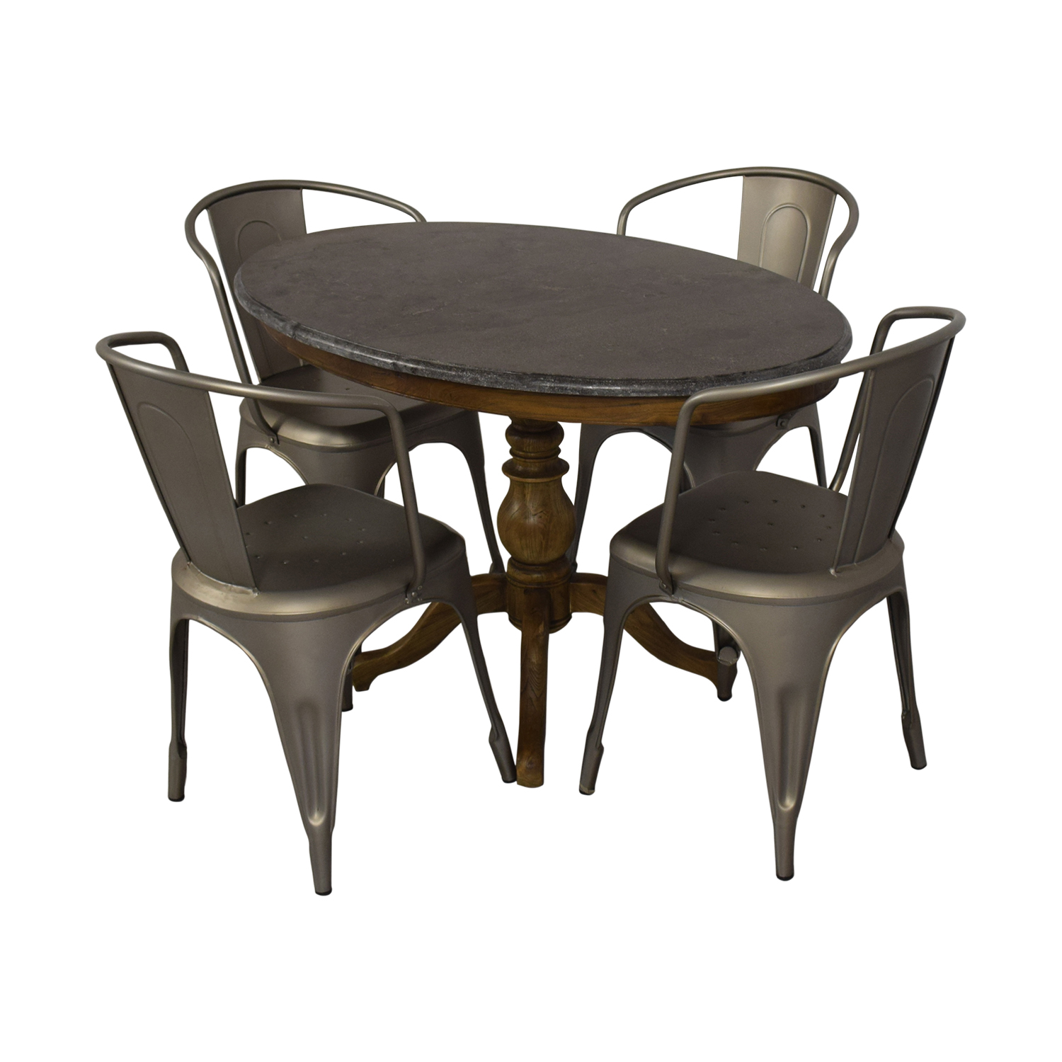 Restoration Hardware Restoration Hardware Bluestone Dining Table And Remy Chairs on sale