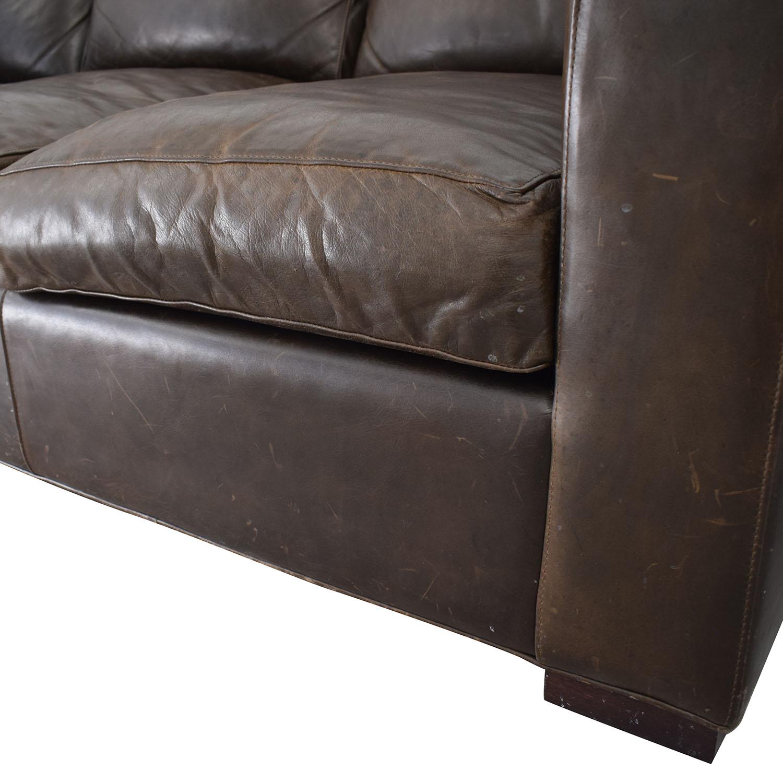 Crate & Barrel Crate & Barrel Axis II Brown Three-Cushion Sofa Classic Sofas