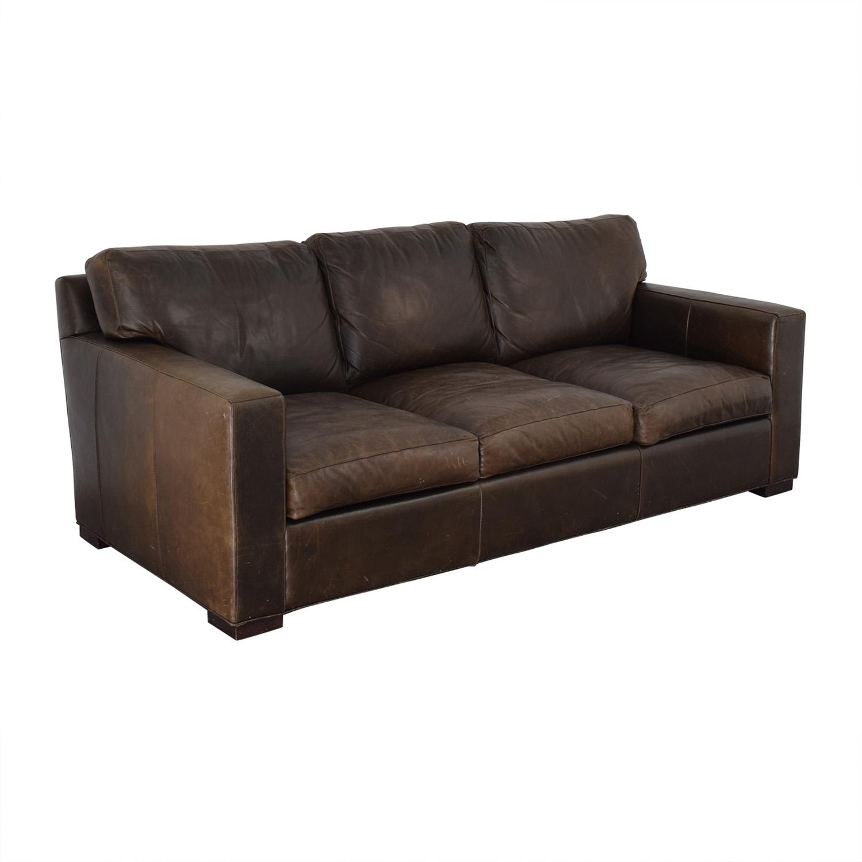 shop Crate & Barrel Axis II Brown Three-Cushion Sofa Crate & Barrel Classic Sofas